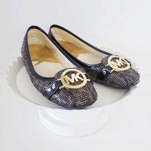 Michael Kors Gold Black Signature Leopard Flats 6